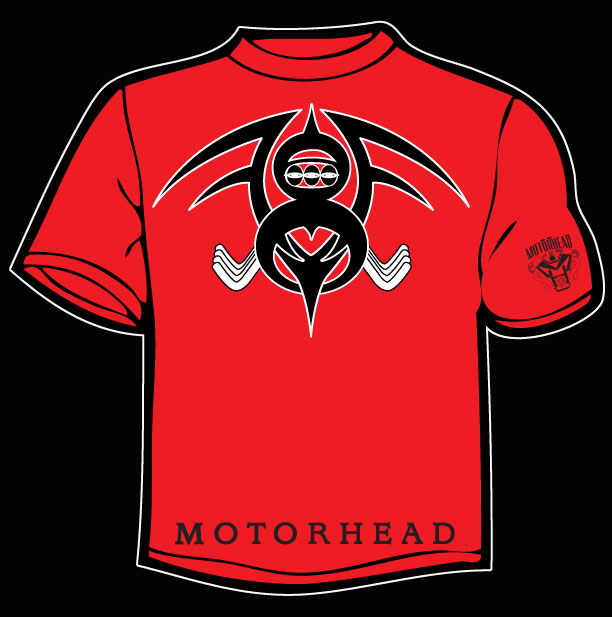 red motorhead v-8 design